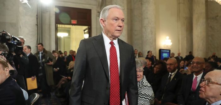 Jeff Sessions enters confirmation hearing