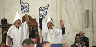 KKK Jeff Sessions protestors