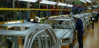 Mercedes Benz production line