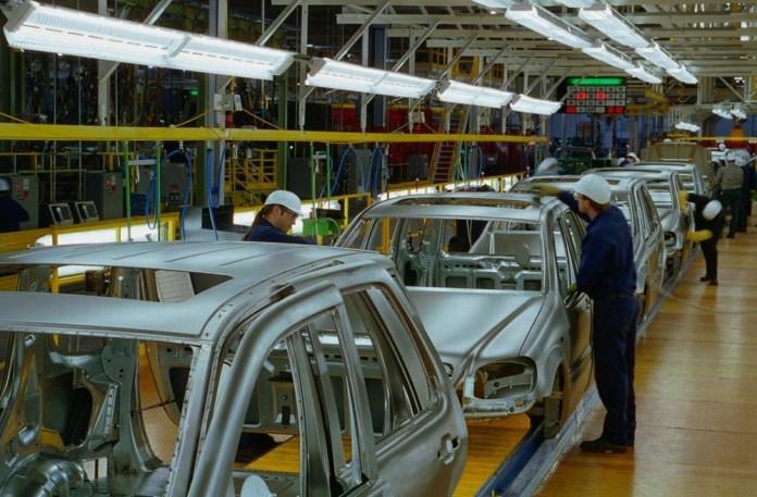 Mercedes Benz production line