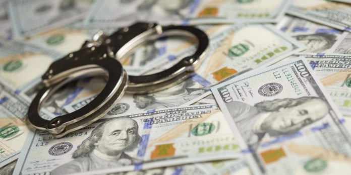 handcuffs money