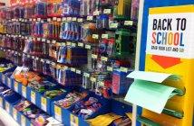 school supply aisle