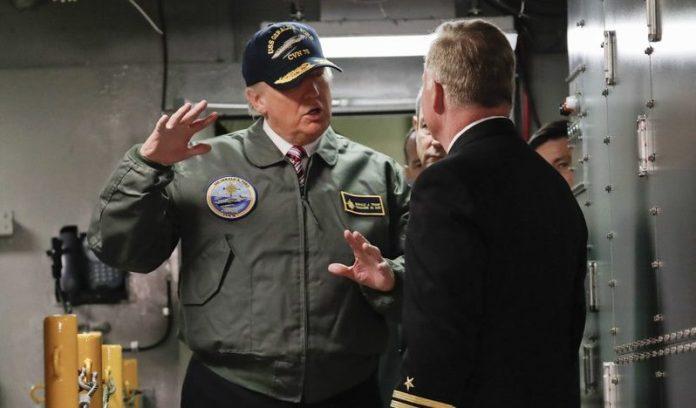 Donald trump aircraft carrier