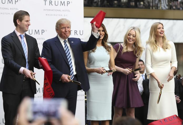 Trump family at hotel