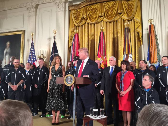 Donald Trump with Wounded Warriors