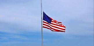 half staff mast American flag
