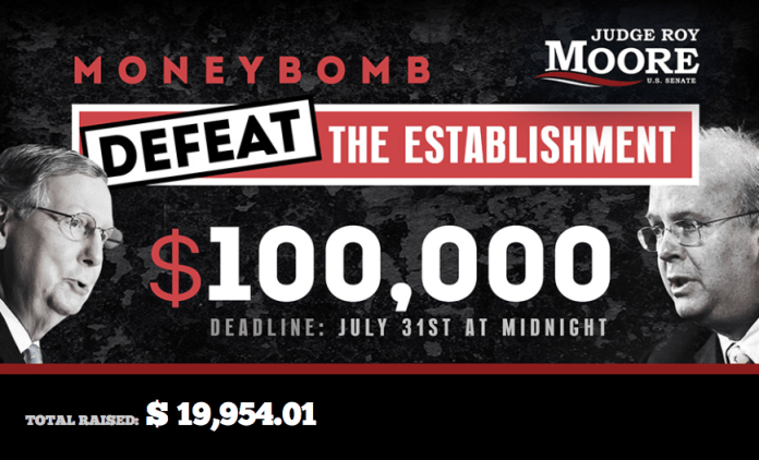 Roy Moore moneybomb email