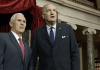 Mike Pence and Luther Strange