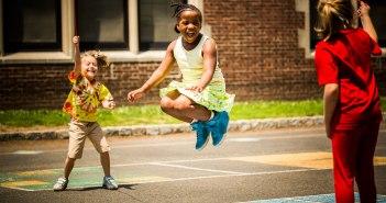 kids playing at school