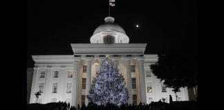 Alabama Capitol Christmas Tree 2017
