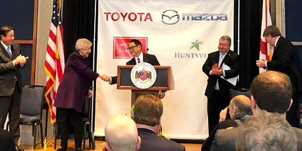 Mazda and Toyota pick Alabama for $1.6 billion auto plant