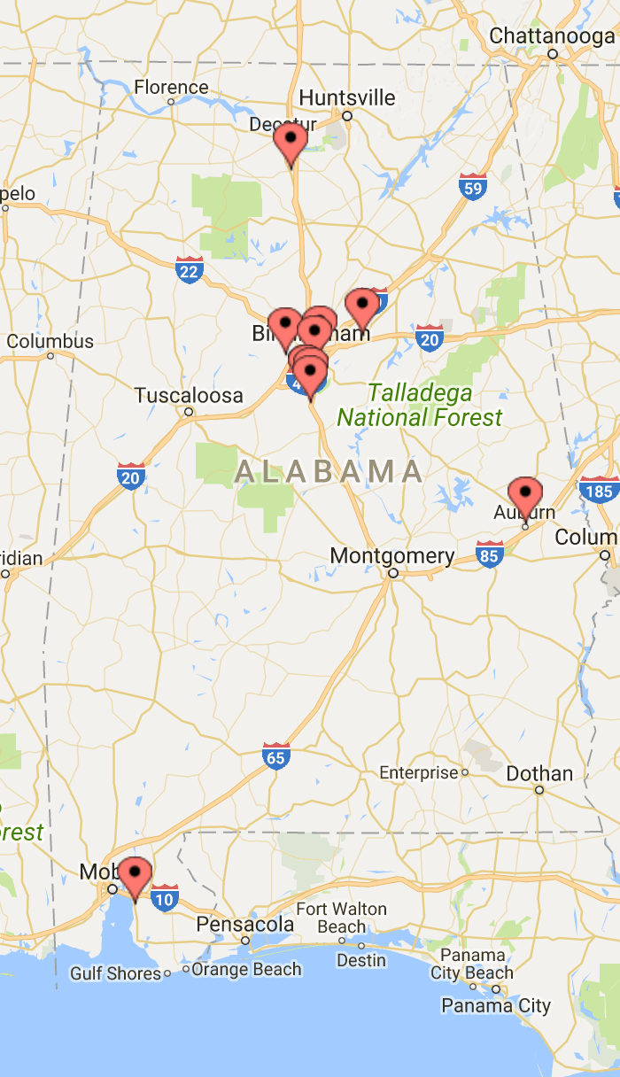 The top 10 safest cities in Alabama