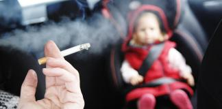 smoking in car with child