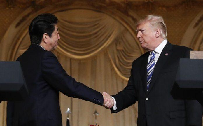 Trump Shinzo abe