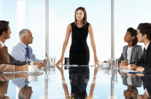 woman board room