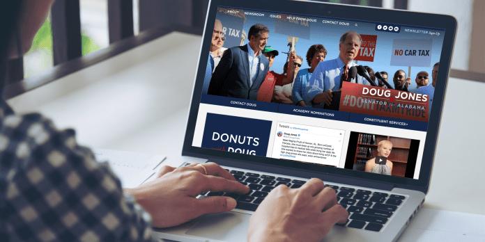 Doug Jones 2018 website
