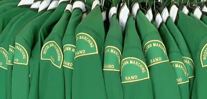 Woodlawn High School band uniforms