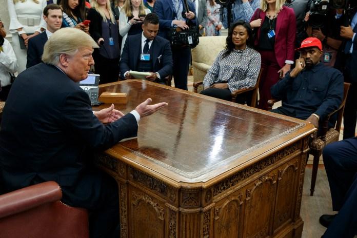 Donald Trump, Jared Kushner, Kanye West