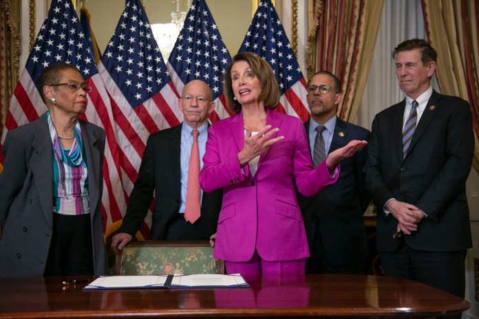 Nancy Pelosi, Eleanor Holmes Norton, Peter DeFazio, Anthony Brown, Don Beyer