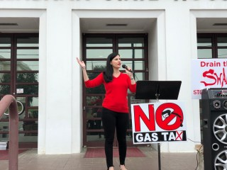 No gas tax rally