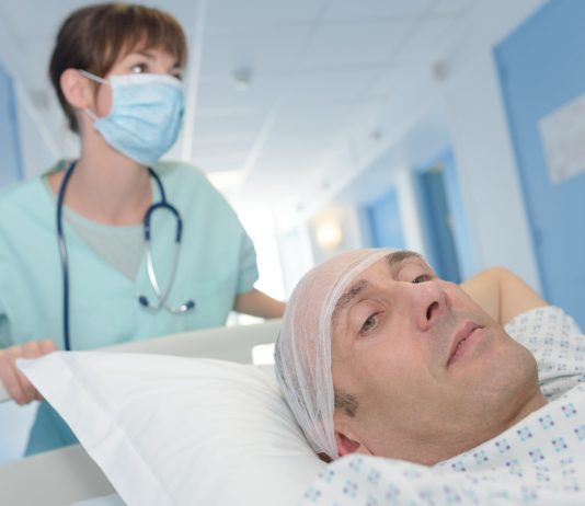 man headed to surgery hospital