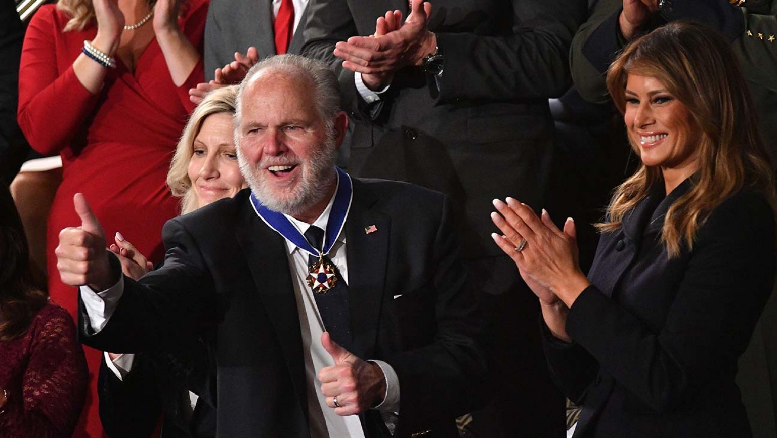 Rush Limbaugh receives Presidential Medal of Freedom