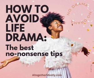 best tips to avoid drama in life happy woman on a pink background