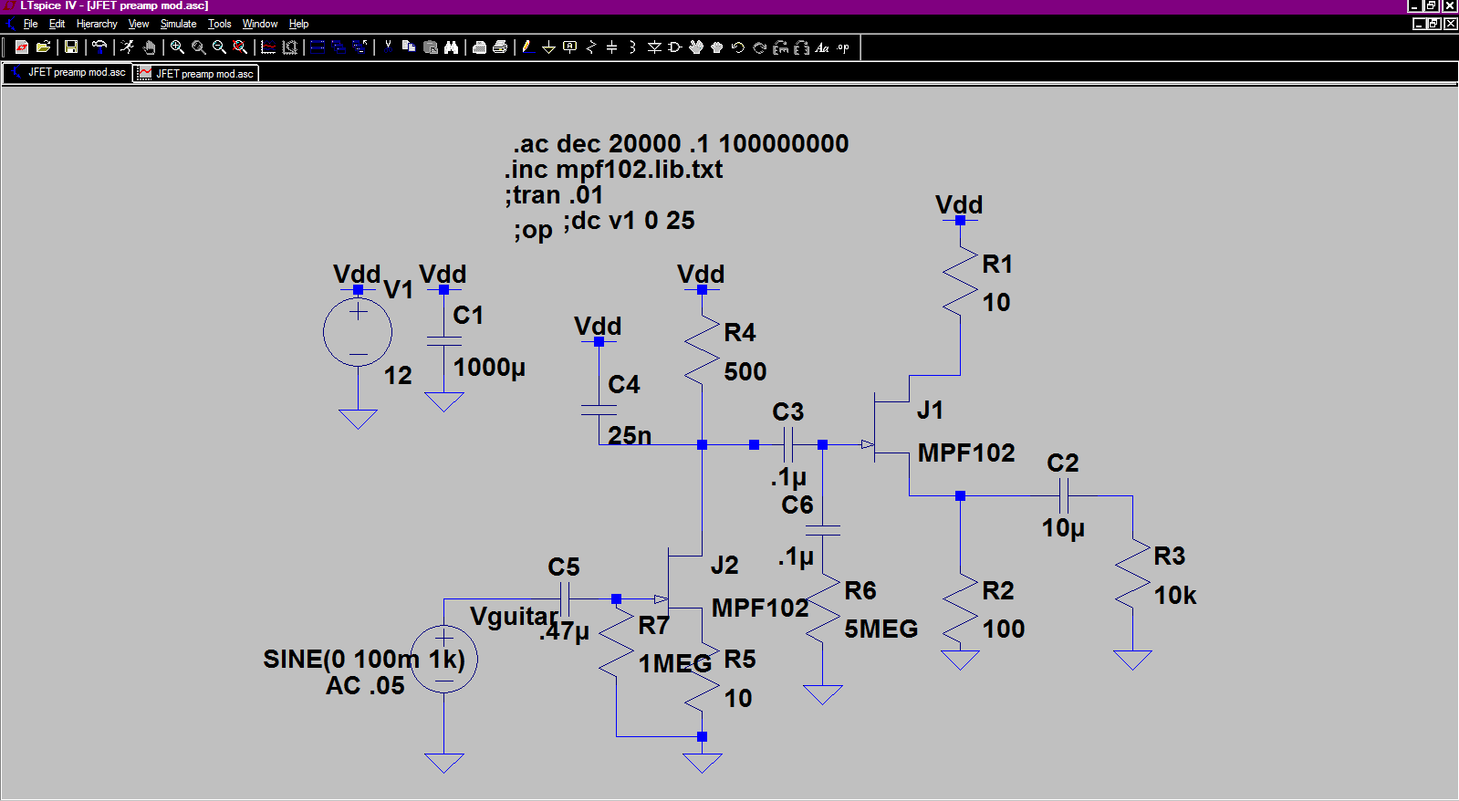 hight resolution of preamp
