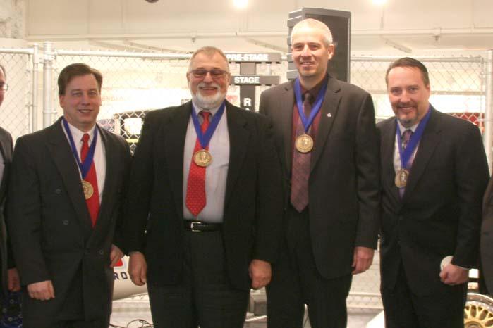 Kvartetten bag det patenterede transmissionssystem i den nye Jeep Cherokee.