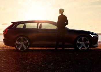 Volvo's fremtidige herregårdsvogn i profil.