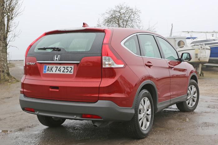 CR-V er i mange henseender inspireret af amerikanske SUV'er, og den voluminøse bagklap er ingen undtagelse. Det er den 1,6-liters dieselmotor til gengæld