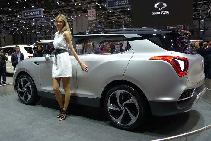 Koreanske SsangYong har på standen såvel Korando som Rexton foruden dette SUv-koncept kaldet XLV.
