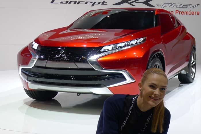 Mitsubishi præsenterer tre bilprojekter, bl.a. denne Concept XR-PHEV el-drevne plug-in hybrid bil.