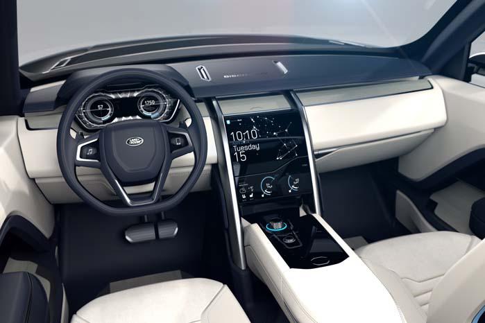 Indretningen følger tilsyneladende samme spor, som kendetegner Range Rover-modellerne
