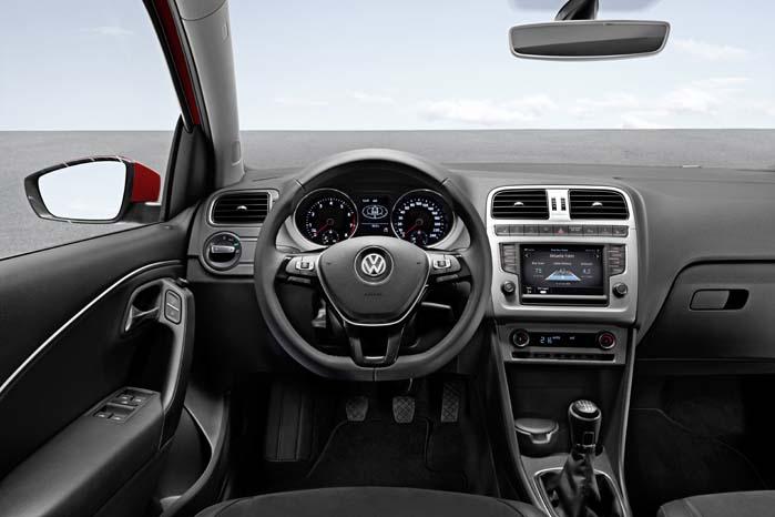 Interiøret i den opdaterede VW Polo med udvidet infotainment-program.