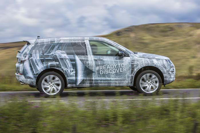 Fjernes de to bageste sæderækker forvandles den kommende Dscovery Sport til en rummelig varebil.