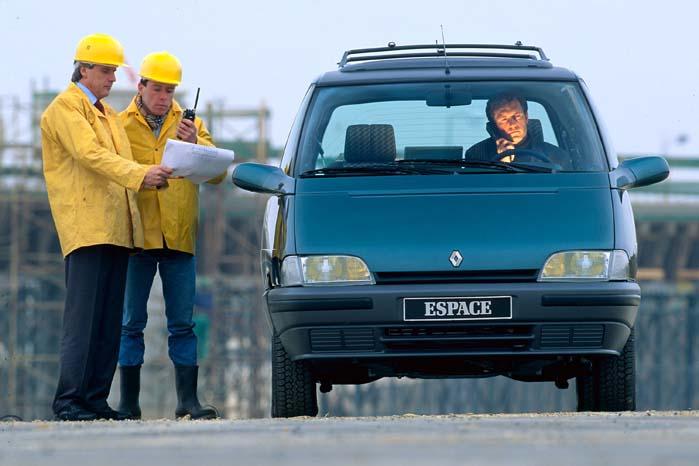 Renault Espace II blev lanceret i 1991.