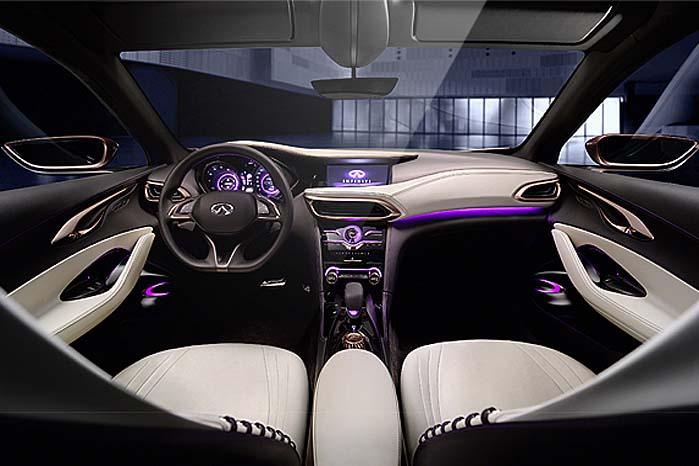 Wauv! Men bilen er jo også målrettet til luksuskrævende købere, som får noget at sidde, se på og røre ved i Q30 og QX30.