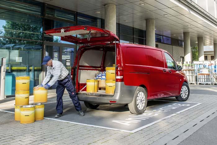 Stor lasteevne, let adgang og sikker transport er nøgleord i Vito-konceptet.