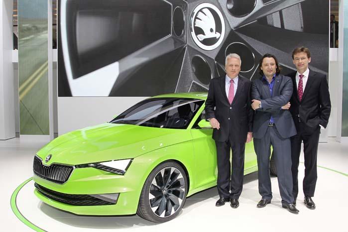 Vision C-konceptet blev sidste år præsenteret af  topchefen Winfried Vahland, designchjefen Jozef Kabaň, og Frank Welsch, medlem af udviklingsafdelingens ledelse.