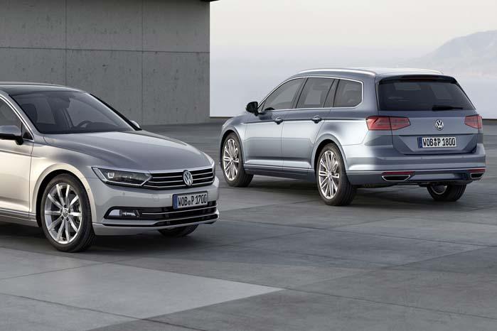 Ottende generation af VW Passat, der regnes blandt Europas mest populære firmabiler.