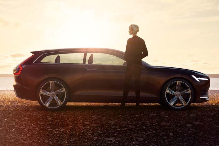 Anden generation af Volvo XC90 i profil.