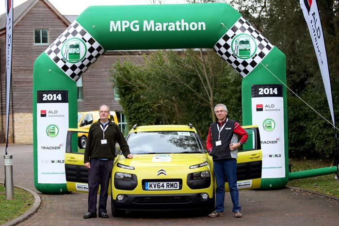 Den rutinerede MPG Marathon-specialist John Kendall leverede sammen med Paul Niewenhuis i en Citroën C4 Cactus et gennemsnit på 33,63 kilometer per liter.
