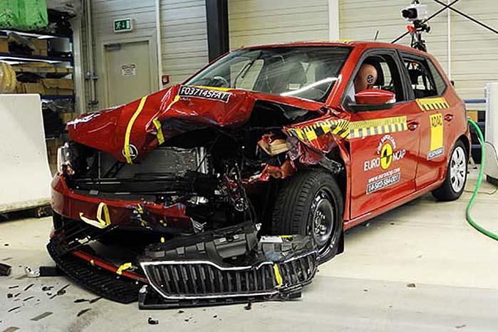 Skoda Fabia - en af sidste års 5-stjernede topscorere i Euro NCAP-testen.
