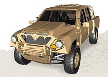 Sådan ser vilddyret ud i army-version, før den bliver pakket ind i en hvilken som helst donor-pickups karosseridele