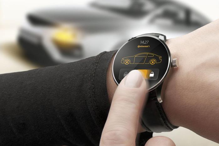 Continental har også lavet et Smart Watch, der blandt andet kan fungere som din bilnøgle