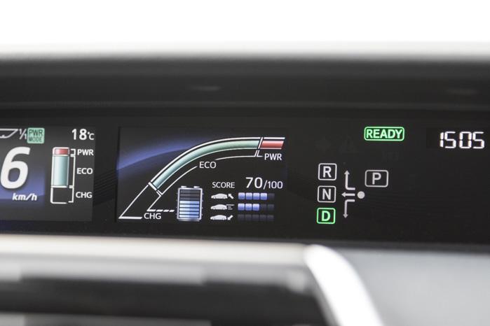 Ligesom i hybrid- og elbiler er der masser af spændende displays at holde øje med