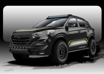 Tuningsfirmaet Rockstar får en Hyundai til at sparke røv. Undervognen er hævet 15 cm.