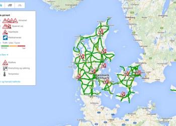 Ved hjælp af det nye kort kan du lynhurtigt danne dig et overblik over trafiksituationen på din rute