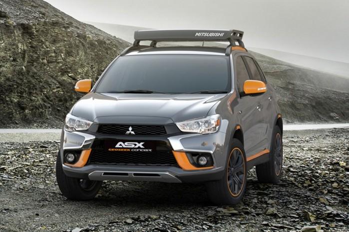 Mitsubishi ASX bliver ikke mindre bysmart af at få grå lakering og orange sidespejle.